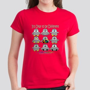 Autism Awareness Penguins Women's Dark T-Shirt