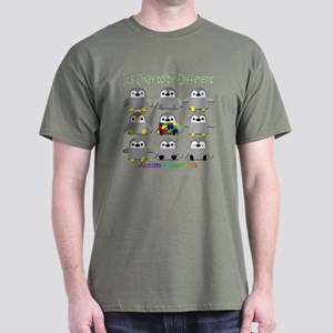 Autism Awareness Penguins Dark T-Shirt
