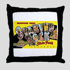 Starved Rock Park Illinois Throw Pillow