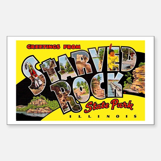 Starved Rock Park Illinois Rectangle Decal