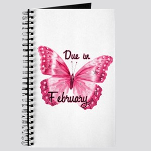 Due February Sparkle Butterfly Journal