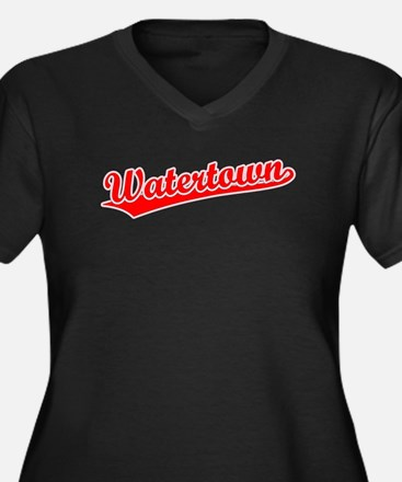 Retro Watertown (Red) Women's Plus Size V-Neck Dar