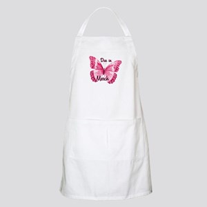 Due March Sparkle Butterfly BBQ Apron