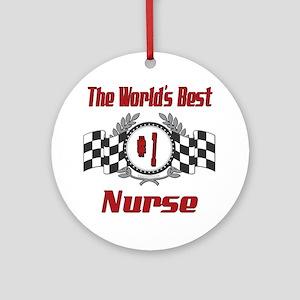Racing Nurse Ornament (Round)