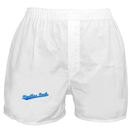Retro Pinellas Park (Blue) Boxer Shorts