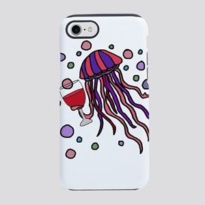 Cool Jellyfish Drinking Wine iPhone 8/7 Tough Case