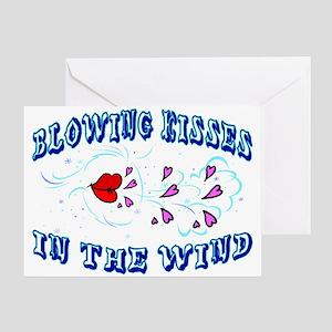 Blowing Kisses Greeting Card
