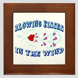 Blowing Kisses Framed Tile