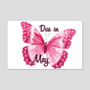 Due May Sparkle Butterfly Mini Poster Print