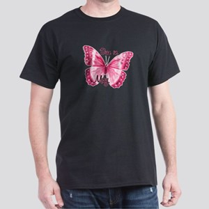 Due May Sparkle Butterfly Dark T-Shirt