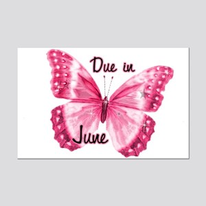 Due June Sparkle Butterfly Mini Poster Print