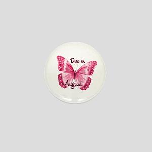 Due August Sparkle Butterfly Mini Button