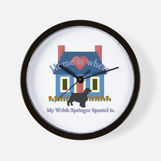 Welsh Springer Spaniel Wall Clock