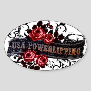 WOMEN'S POWERLIFTING Oval Sticker