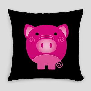 Pink Pig Everyday Pillow
