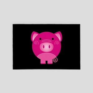 Pink Pig 4' x 6' Rug