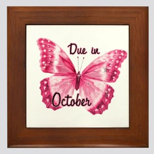 Due October Sparkle Butterfly Framed Tile