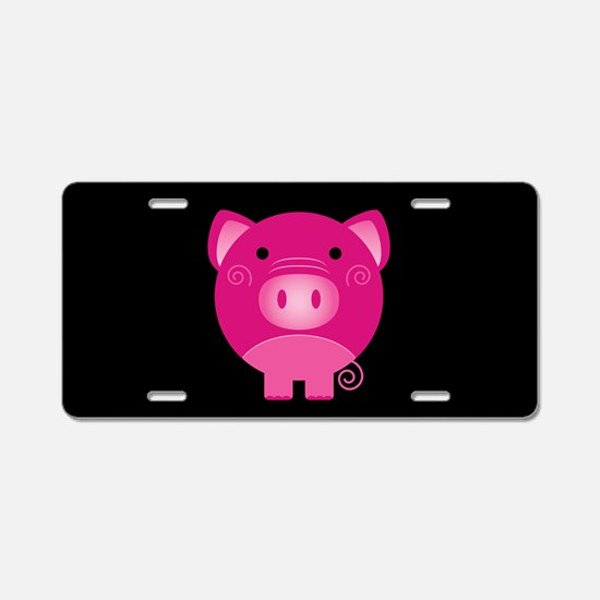 Pink Pig Aluminum License Plate