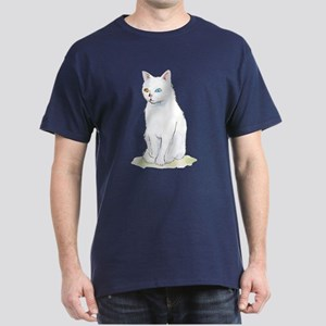 Odd Eyed White Cat Dark T-Shirt