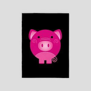 Pink Pig 5'x7'Area Rug