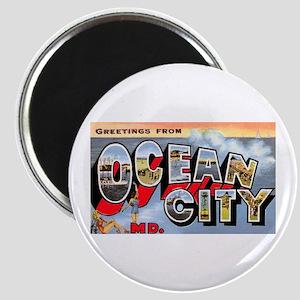 Ocean City Maryland Greetings Magnet