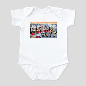 Ocean City Maryland Greetings Infant Bodysuit