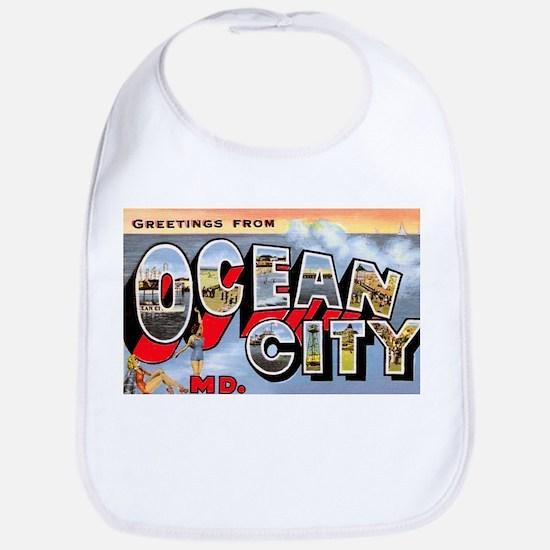 Ocean City Maryland Greetings Bib
