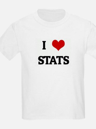 I Love STATS T-Shirt