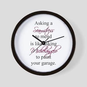Asking a Seamstress to Mend Wall Clock