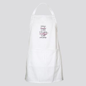 Asking a Seamstress to Mend BBQ Apron