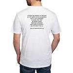 Captain Corruption Pledge Fitted T-Shirt