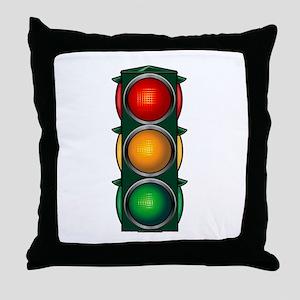 Stop Light Throw Pillow