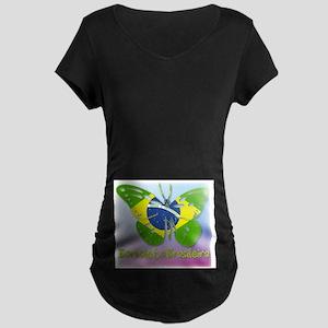 Borboleta Brasileira Maternity Dark T-Shirt
