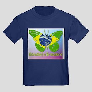Borboleta Brasileira Kids Dark T-Shirt