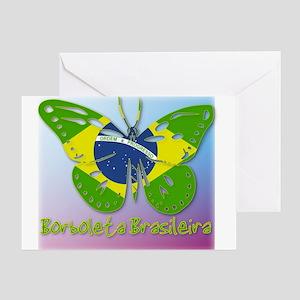 Borboleta Brasileira Greeting Card
