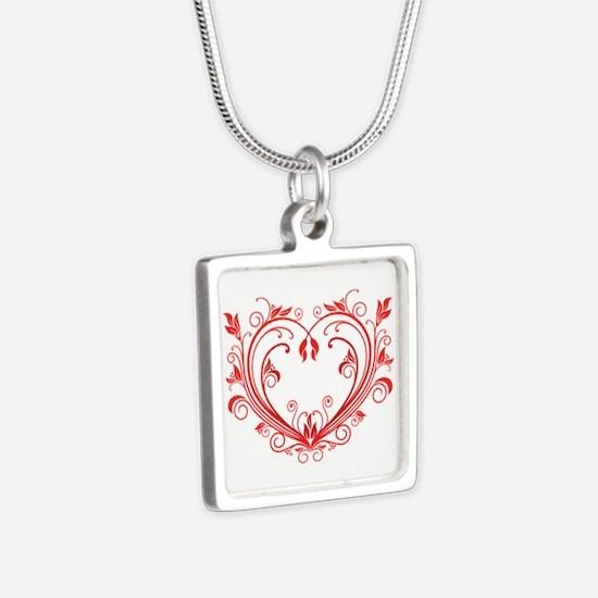 Silver Square Necklace Necklaces