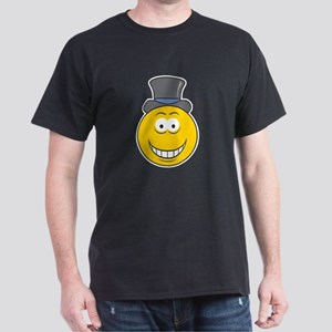 Top Hat Smiley Face Dark T-Shirt