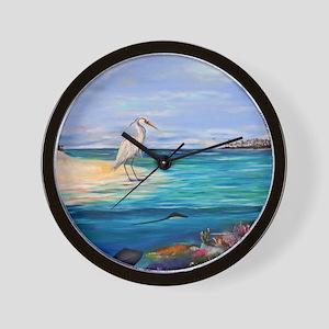 Heron and Stingray Wall Clock