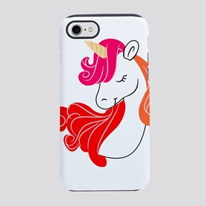 colorful unicorn iPhone 8/7 Tough Case