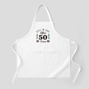 Cute 50th Anniversary Light Apron