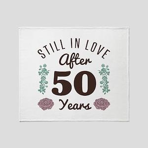 Cute 50th Anniversary Throw Blanket