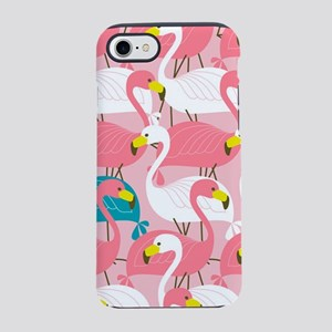 PINK AND BLUE FLAMINGOS iPhone 8/7 Tough Case