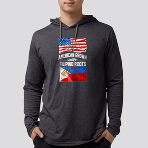 American Grown with Filipino Roots Long Sleeve T-S