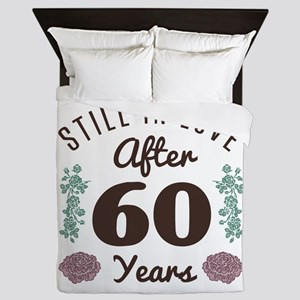 Cute 60th Anniversary Queen Duvet