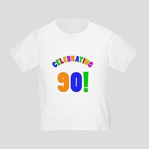 Rainbow 90th Birthday Party T Shirt