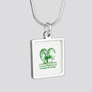 Earth Connection Silver Square Necklace