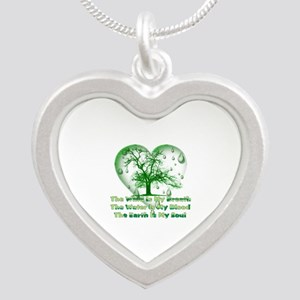 Earth Connection Silver Heart Necklace