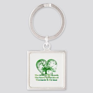 Earth Connection Square Keychain