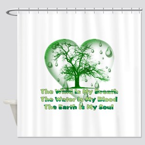 Earth Connection Shower Curtain