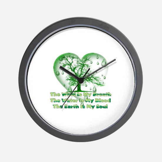 Earth Connection Wall Clock